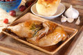 Roast Half Chicken Royalty Free Stock Images