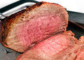 Roast joint of beef Stock Image