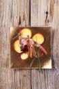 Roast lamb chops and potatoes Royalty Free Stock Photo