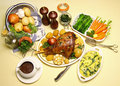 Roast Leg Of Lamb Stock Photos
