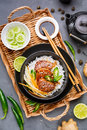 Roast meat with rice Royalty Free Stock Photo