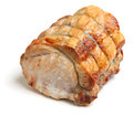 Roast pork joint straight from the oven Stock Images