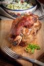 Roast pork knuckle. Royalty Free Stock Photo