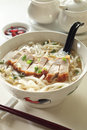 Roast Pork Noodles Royalty Free Stock Image