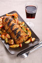 Roast pork with sage and thyme Royalty Free Stock Images