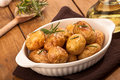 Roast Potatoes With Rosemary Royalty Free Stock Photos