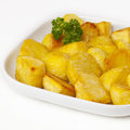 Roast Potatoes and Rosemary Stock Photos