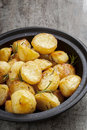 Roast Potatoes with Rosemary and Sea Salt Royalty Free Stock Photo