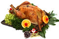 Roast turkey for thanksgiving day merry christmas day Royalty Free Stock Images