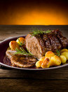 Roast of veal Royalty Free Stock Photos