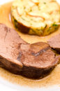 Roast wild boar Stock Photography