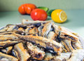 Roasted anchovies Royalty Free Stock Photography