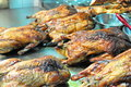 Roasted bbq duck thailand chinatown food for sale on street ready to eat Stock Photo