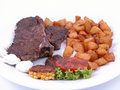 Roasted beefsteak Stock Image