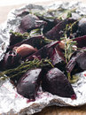 Roasted Beetroot with Herbs and Balsamic Vinegar Royalty Free Stock Photography