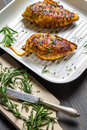 Roasted chicken breast with rosemary Royalty Free Stock Photo