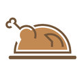 Roasted chicken delicious appetite hen sign symbol Royalty Free Stock Photos