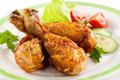 Roasted chicken drumsticks Stock Photography