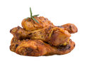 Roasted chicken ham rosemary isolated Stock Photos