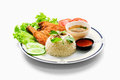 Roasted Chicken Rice Royalty Free Stock Photography