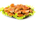 Roasted chicken wings colorful food background Stock Images