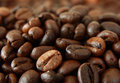Roasted coffee beans can be used as background Royalty Free Stock Images