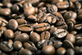 Roasted coffee beans can be used as a background Royalty Free Stock Photo
