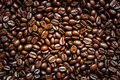 Roasted coffee beans. Royalty Free Stock Photo