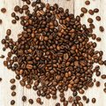 Roasted coffee beans, can be used as a background. Coffee beans texture macro