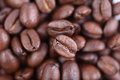 Roasted coffee beans close up as a background Royalty Free Stock Photography
