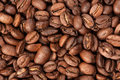 Roasted coffee beans close up background Royalty Free Stock Image