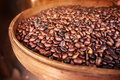 Roasted coffee beans grown in bali indonesia Royalty Free Stock Image