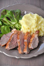 Roasted duck breast Royalty Free Stock Image