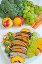 Roasted duck breast salad Royalty Free Stock Photos