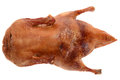 Roasted duck isolation on white Royalty Free Stock Photo
