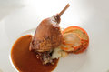 Roasted duck leg french confit Stock Images