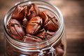 Roasted edible chestnuts Stock Images