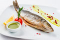 Roasted Fish dish Royalty Free Stock Photo