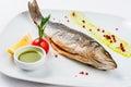 Roasted Fish dish Royalty Free Stock Photo