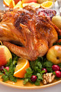 Roasted holiday turkey Royalty Free Stock Images