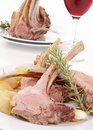 Roasted lamb and potato Royalty Free Stock Photography