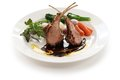 Roasted lamb rib chops Stock Photos
