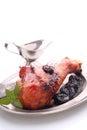 Roasted leg of turkey Royalty Free Stock Photo
