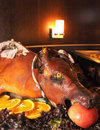 Roasted pig Stock Photo