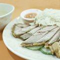 Roasted pork with rice chinese style and soup Royalty Free Stock Images