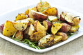 Roasted potatoes Stock Images