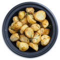 Roasted Potatoes Isolated Royalty Free Stock Photo