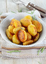 Roasted potatoes with rosemary selective focus Stock Photography