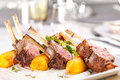 Roasted rack of lamb chops Royalty Free Stock Photo