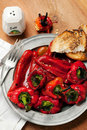 Roasted red peppers Royalty Free Stock Photo